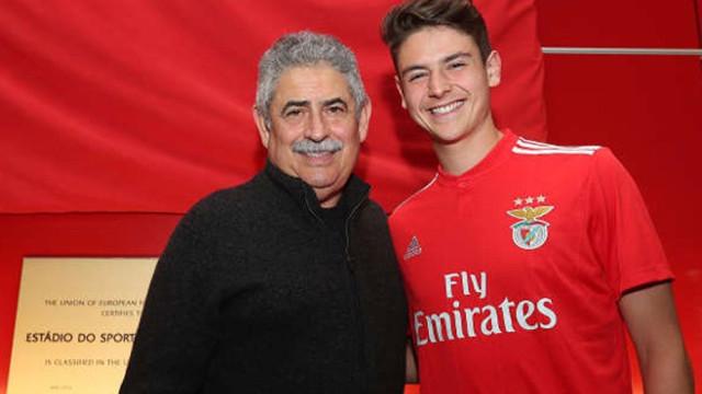 Filho de Domingos Paciência é reforço do Benfica