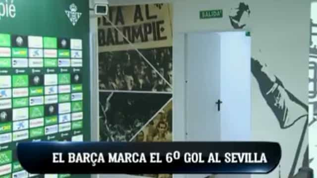 Barça ridiculariza o Sevilla e o balneário do Betis 'explode' de alegria