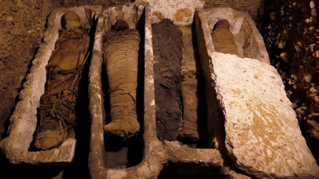 Túmulo com 50 múmias descoberto no Egito