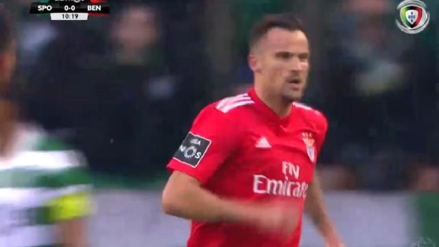 Seferovic inaugurou marcador em Alvalade aos 11 minutos