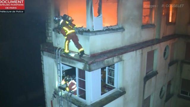 As impressionantes imagens do incêndio que matou dez pessoas em Paris