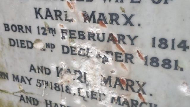 """Sepultura de Karl Marx em Londres vandalizada em """"ataque deliberado"""""""