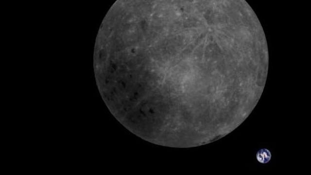 Fotografia capta lado oculto da Lua e Terra numa única imagem
