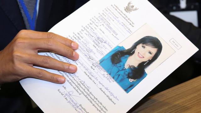 Candidatura de princesa tailandesa a primeira-ministra desclassificada