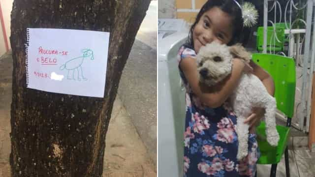 """""""Procura-se o Belo"""". E mesmo com este desenho menina de 4 anos conseguiu"""