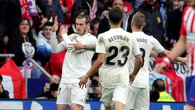 Bale marca golo 100 frente ao Atlético e faz gesto impróprio nos festejos