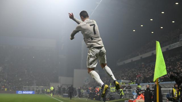 Juventus regressa às vitórias à boleia do inevitável Cristiano Ronaldo