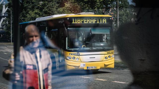 Autocarro incendiou-se em Matosinhos