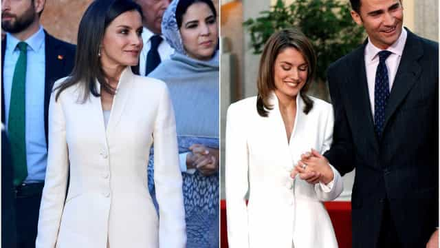 Letizia recicla look usado no dia em que anunciou o noivado com Felipe