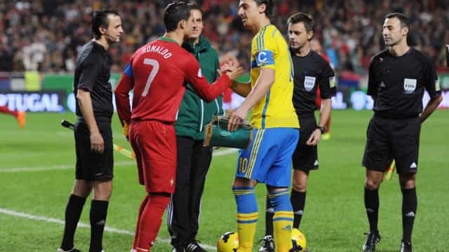 """Ibrahimovic 'pica' Ronaldo: """"Ir para a Juventus não é um desafio"""""""