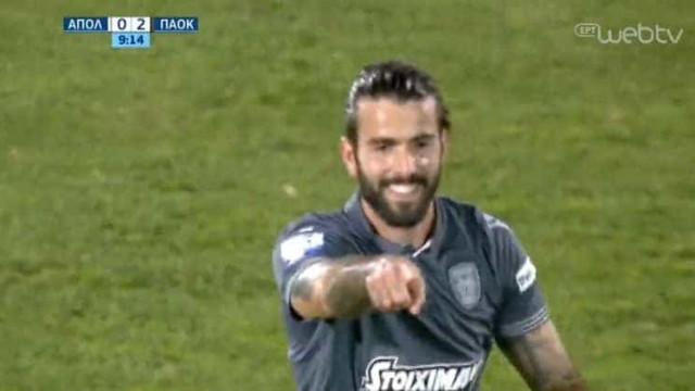 Sérgio Oliveira estreia-se a marcar pelo PAOK com esta bela jogada