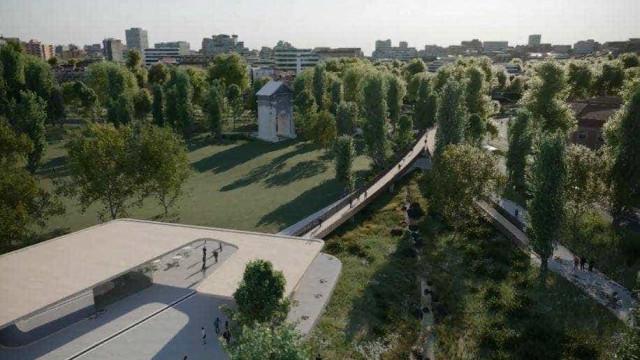 Requalificação da Praça de Espanha arranca com transplante de árvores