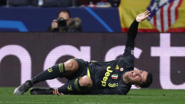 Insultos, golos anulados e gestos polémicos: Juve de CR7 caiu em Madrid