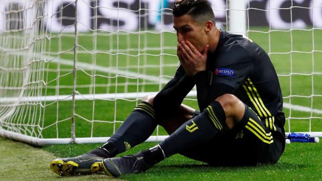 """Desilusão europeia levanta primeiras críticas: """"Ronaldo, onde estás?"""""""