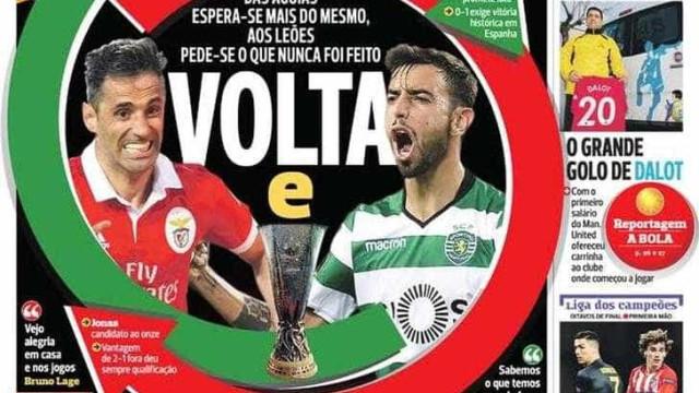 """Por cá: """"Volta e reviravolta"""" e olhos postos na Liga Europa"""