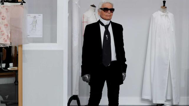 Lagerfeld teve um Apple Watch de luxo. Mas será que alguma vez o usou?