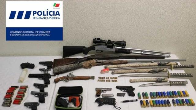 PSP reformado apanhado com armas ilegais em Coimbra