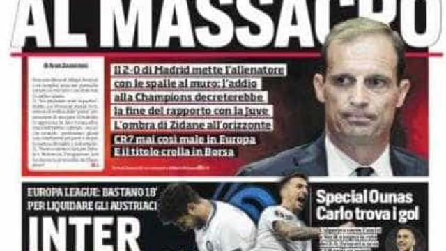 Lá fora: 'Casamento' iminente em Madrid... e 'divórcio' à vista em Turim