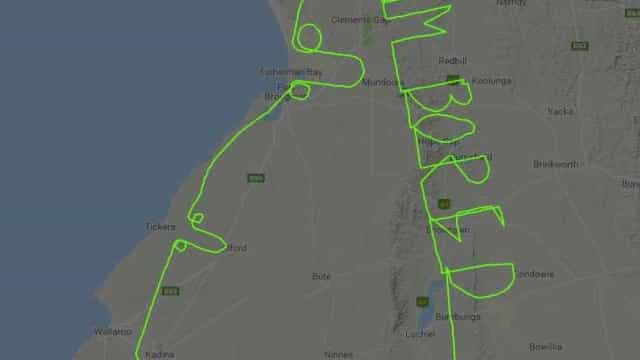 """Piloto australiano """"aborrecido"""" deixou cómica mensagem nos céus"""
