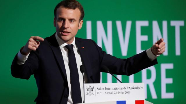 """Macron pede """"reinvenção"""" da Política Agrícola Comum"""