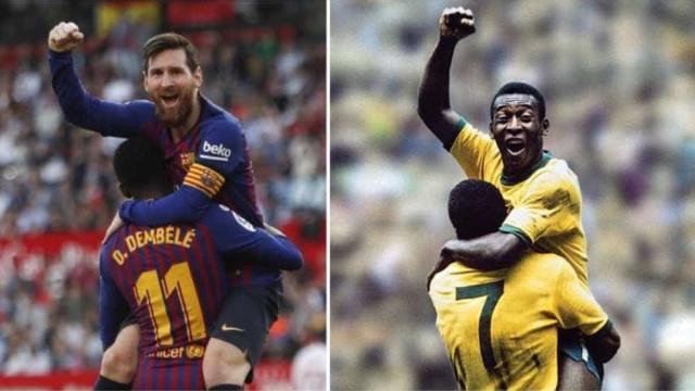 Messi recriou momento icónico... de Pelé