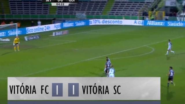 Vitória de Setúbal-Vitória SC: 60 segundos de pura emoção