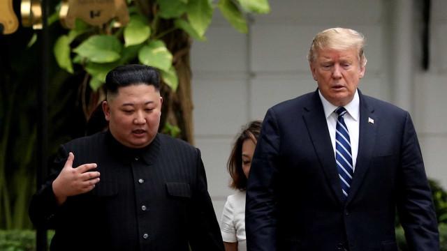Trump mostra-se satisfeito com possibilidade de cimeira com Kim Jong-un