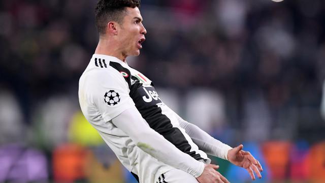 Ronaldo arrisca castigo da UEFA por celebração a imitar Simeone