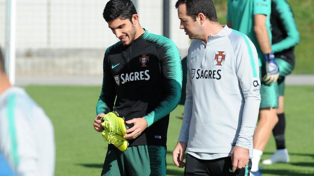 Gonçalo Guedes falha treino da Seleção Nacional