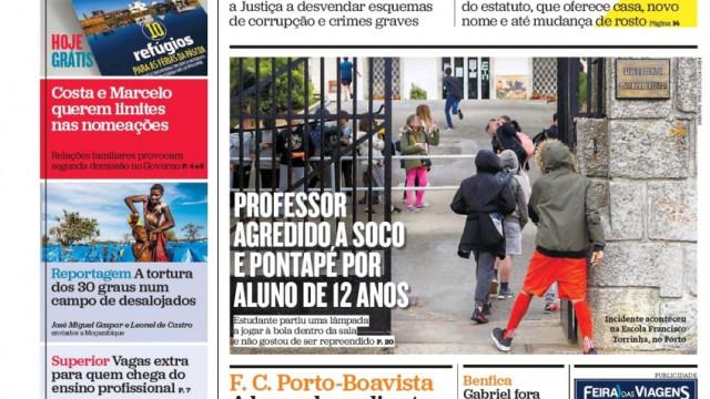 Hoje é notícia: Aluno agride professor a soco; Diana Fialho pede divórcio