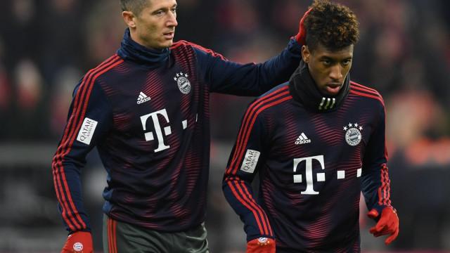 Cena de pancadaria no treino do Bayern Munique entre Lewandowski e Coman