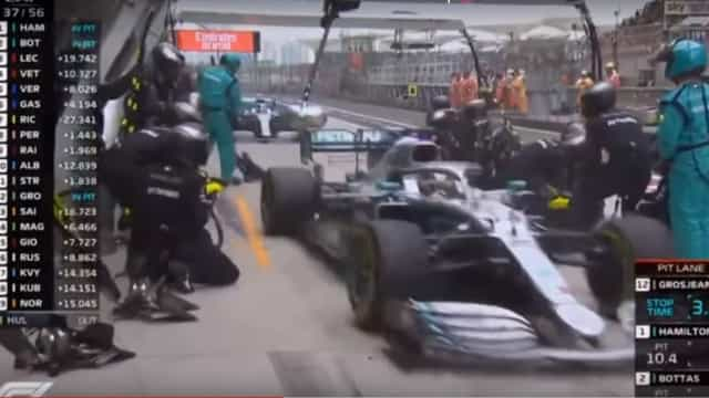 O fantástico (e arriscadíssimo) pit stop da Mercedes no GP da China