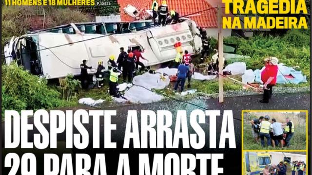 Hoje é notícia: Autocarro terá perdido travões; Supermercados temem pior
