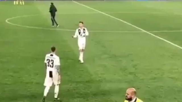 O gesto de Ronaldo após a eliminação da Juventus que está a dar que falar
