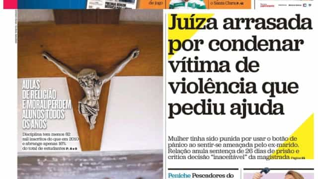 Hoje é notícia: Juíza condena vítima de violência; Telemóvel mata mais