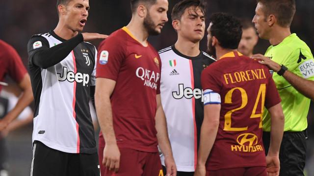 CR7 gozou com quem não devia e Juventus acabou castigada em Roma