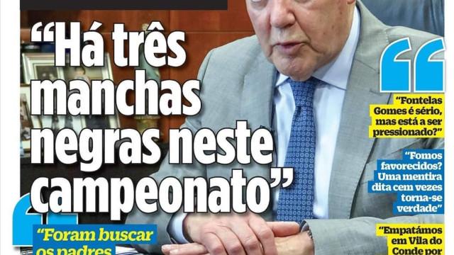Por cá: A entrevista de Pinto de Costa e a descarga emocional das águias