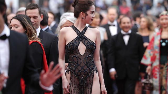 Escândalo? Modelo dá que falar no Festival de Cinema de Cannes