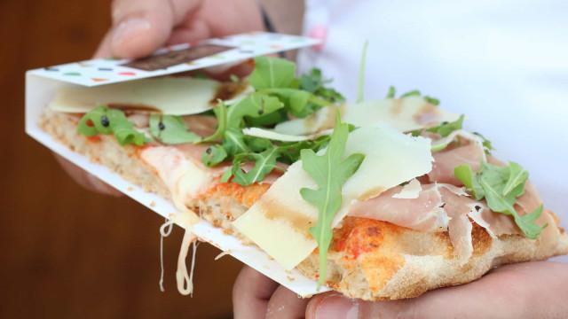 Novas pizzas romanas inéditas na Mercantina Pizza & Gelato