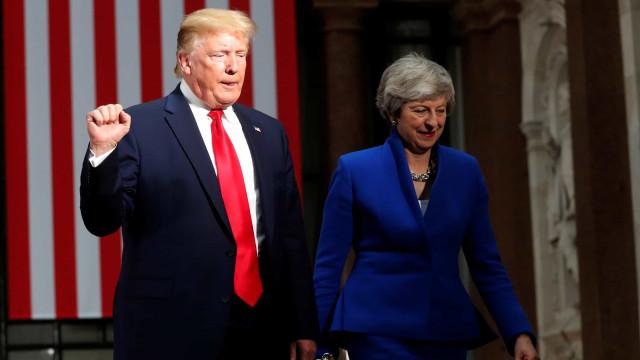 """Trump promete """"acordo fenomenal"""" com Reino Unido após o Brexit"""