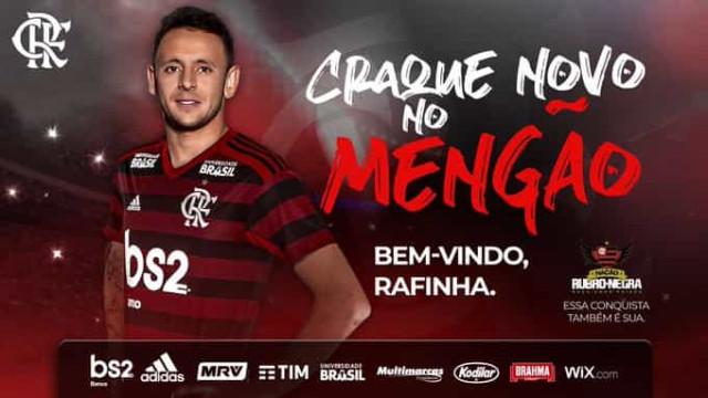 Oficial: Rafinha, alvo do Benfica, reforça Flamengo de Jesus