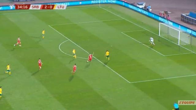 Jovic mostra na seleção por que custou 60 milhões ao Real Madrid