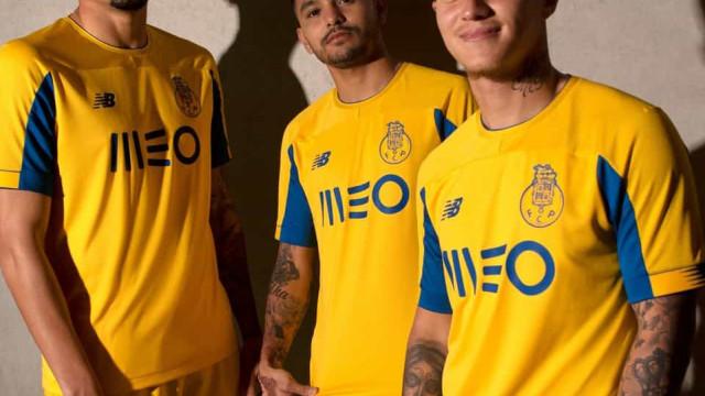 FC Porto apresenta equipamento alternativo inspirado na final de Sevilha