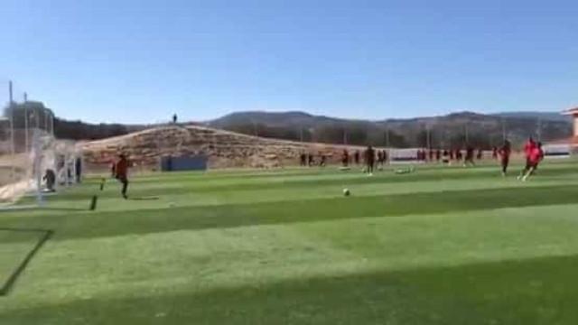 João Félix já faz 'estragos' nos treinos do Atlético de Madrid