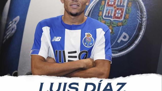 Fechado: Luís Díaz oficializado como reforço do FC Porto