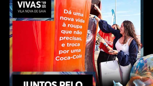 Marés Vivas troca roupa usada por garrafa de bebida