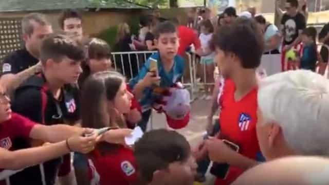 O primeiro grande detalhe de Félix para com os adeptos do Atlético Madrid