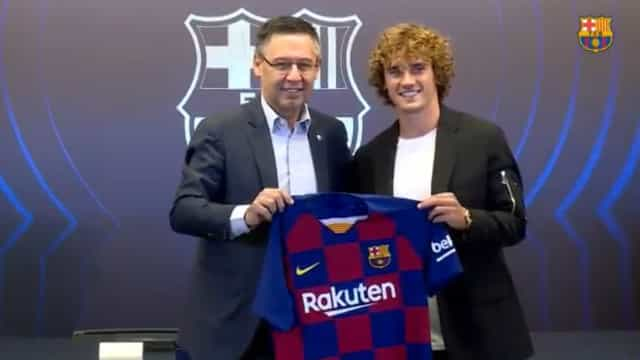 Barcelona revelou o número da camisola de Griezmann