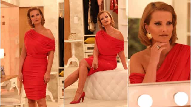 Cristina Ferreira espalha elegância com look vermelho total