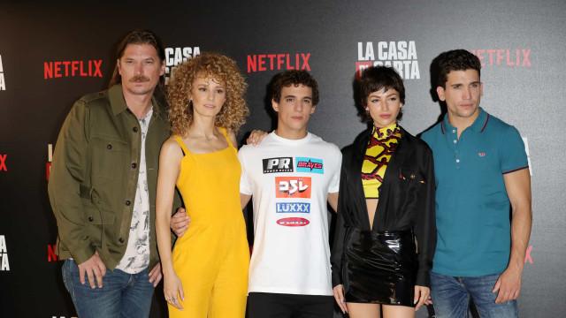Elenco de 'La Casa de Papel' reúne-se em Milão